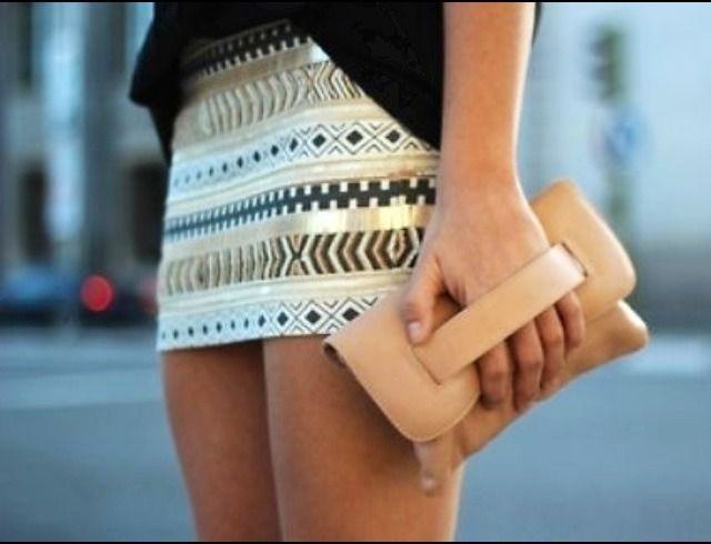 Zara Aztec Gold Embroidered Sequinned Pattern Skirt Large L Medium M | eBay