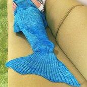 pajamas,adorable blanket,blue,mermaid