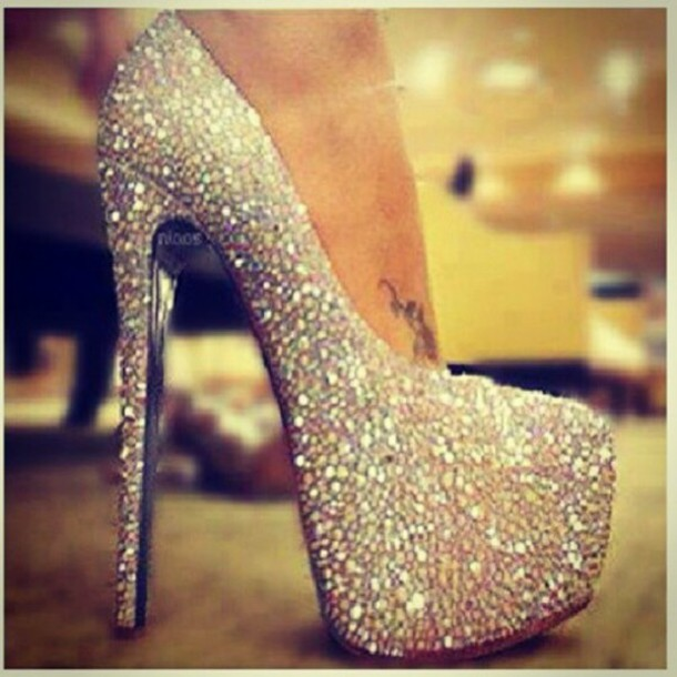 shoes sparkle heels pretty glitter sparkle