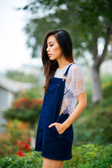 dress lace iceblue denim denim dress fashion stylish
