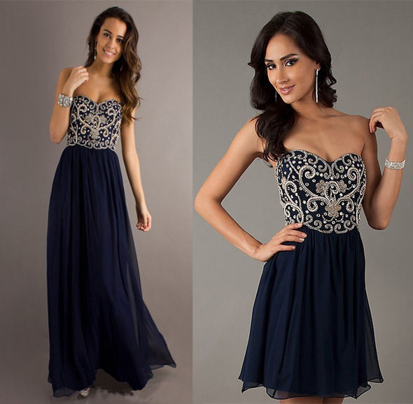 Formal Long Short Evening Ball Gown Party Prom Bridesmaid Dress Stock Size 6 16   eBay