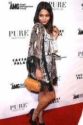 vanessa hudgens,orange bag,dress,bag,cardigan