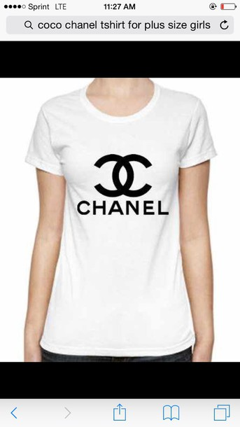 shirt coco chanel white tshirtt