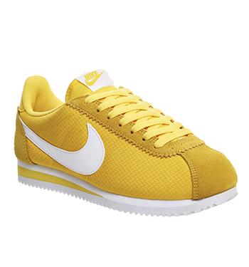 nike cortez amarillas
