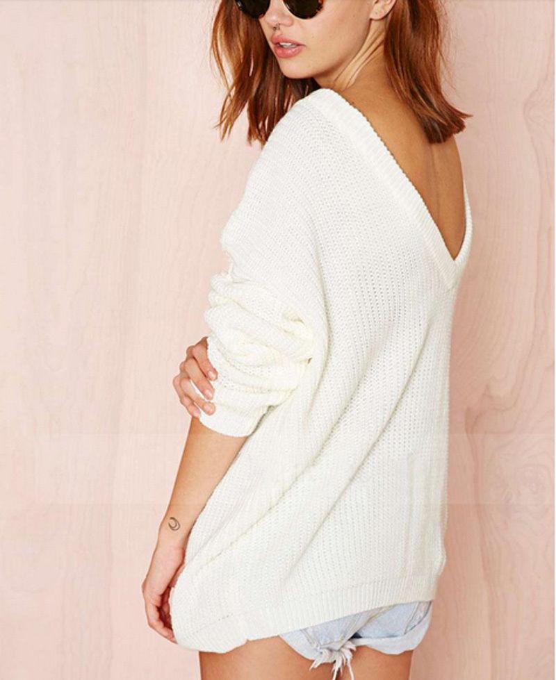 Vicky backless white sweater · love, fashion struck ·