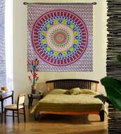 home accessory,hippie yellow flower print wall hanging tapestry,hippie,hippie yellow,flowers,floral,wall hanging tapestry,tapestry,hippie tapestry,bedding,mandala wall hanging,wall decor