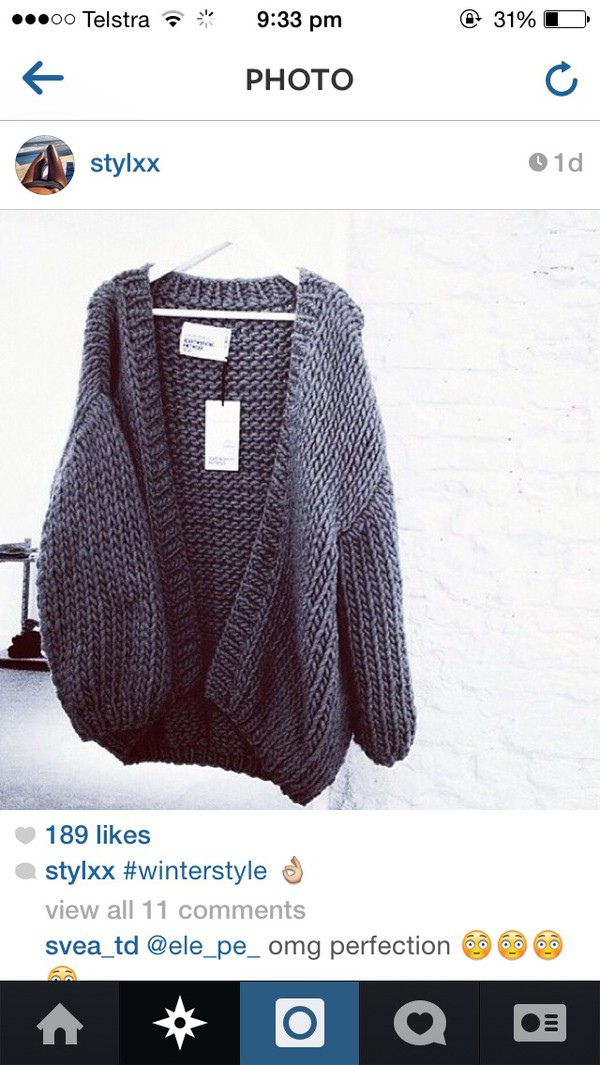 cardigan grey knitted cardigan