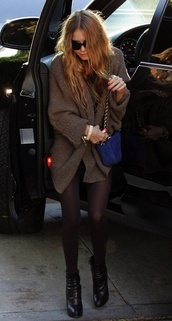 coat,mary kate olsen,cardigan,oversized cardigan,brown