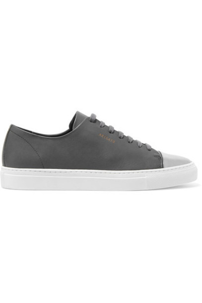81dafeaa9e6c Axel Arigato Axel Arigato - Metallic-trimmed Leather Sneakers - Dark gray