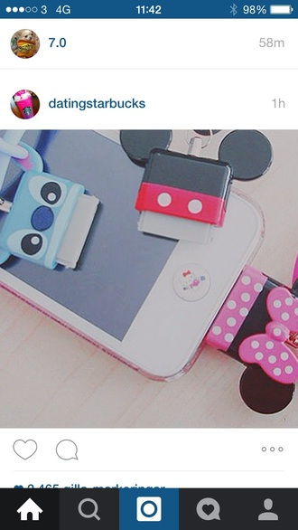 home accessory mikey mouse stitch iphone
