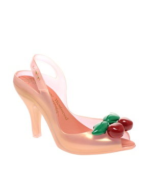Vivienne westwood anglomania for melissa cherries heeled sling back shoes at asos