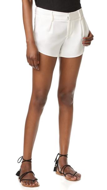 alice + olivia Alice + Olivia Butterfly Shorts - White