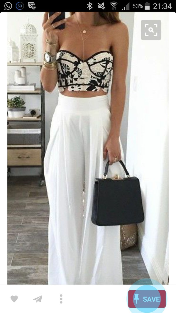 top bustier crop top bustier black and white
