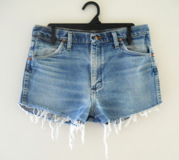 Bohemian Shorts High Waist Shorts High Wasted by TheVilleVintage