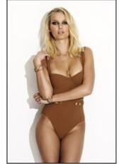 swimwear,brown,tan,gold,one piece swimsuit,sexy