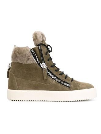 fur sneakers grey shoes