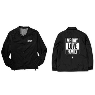 jacket windbreaker wolf wolftyla black black and white white retro