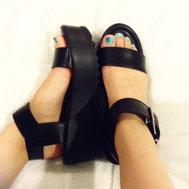 2d45a9221fb shoes soda flatforms platform shoes sandals platform sandals strappy sandals  black black sandals black shoes zooshoo