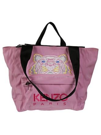 embroidered tiger pink bag