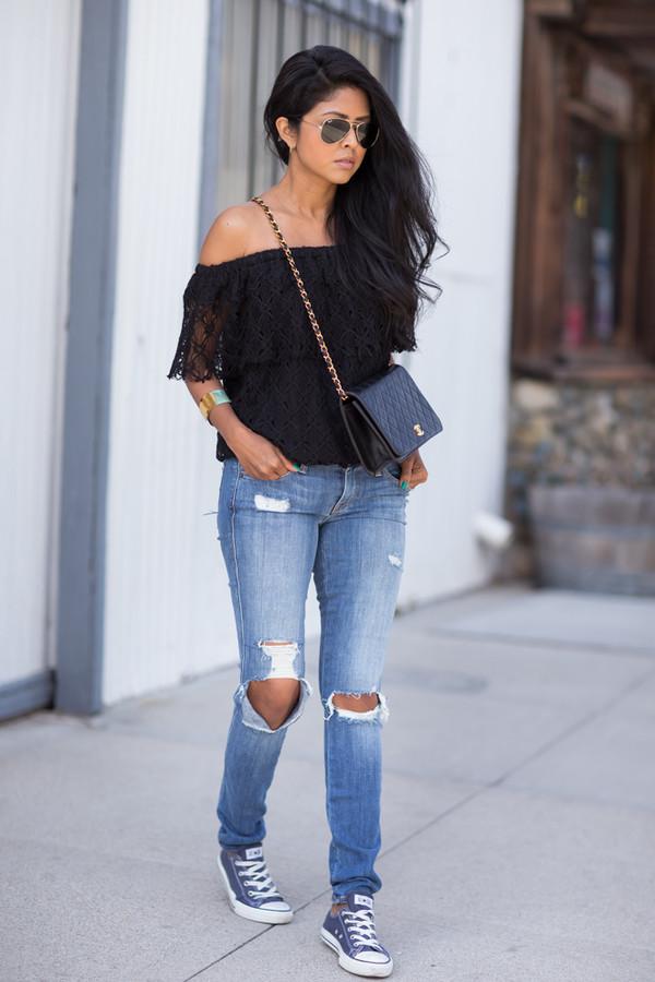 walk in wonderland top jeans shoes bag jewels