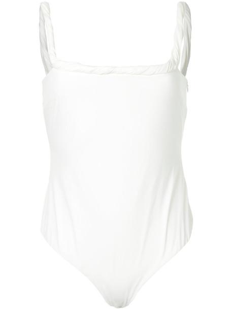 Rebecca Vallance - Brescia bodysuit - women - Polyester - 10, White, Polyester