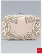 bag,clutch,purse,prom,blush,rose,nude,beaded,rhinestones