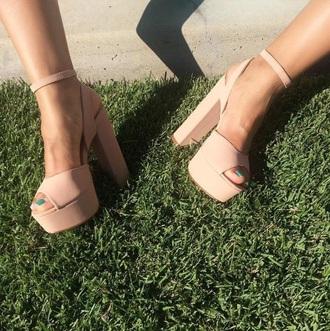 shoes nude heels high heel sandals