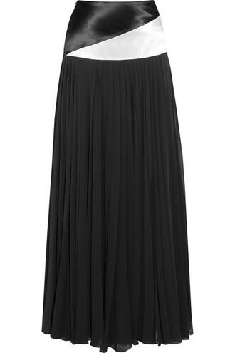 skirt maxi skirt maxi chiffon pleated black