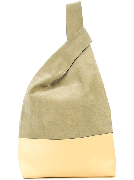 Hayward women soft leather nude suede bag
