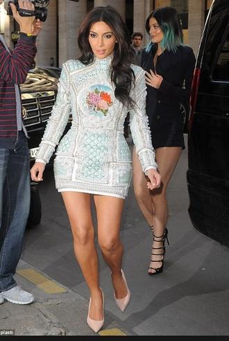 dress kim kardashian kim kardashian dress turtleneck dress sequin dress longsleeved