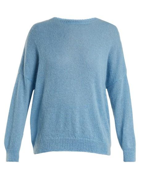 sweater mohair light blue light blue