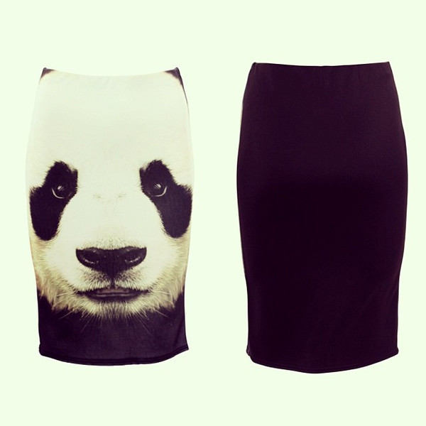 skirt panda face dress kill dress to kill animal print graphic print vanity row