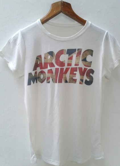 t-shirt shirt white arctic monkeys concert tee band t-shirt band t-shirts rock mens t-shirt Alex Turner concert bandshirts band shirts
