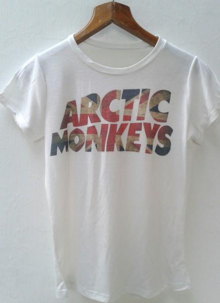 t-shirt arctic monkeys concert tee band t-shirt band t-shirt rock shirt mens t-shirt alex turner white concert band t-shirt band t-shirt