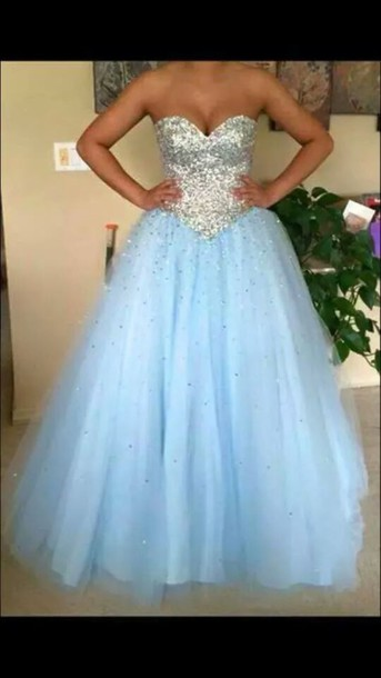 dress prom dress sparkly dress poofy strapless sweetheart dress poofy dress long prom dress