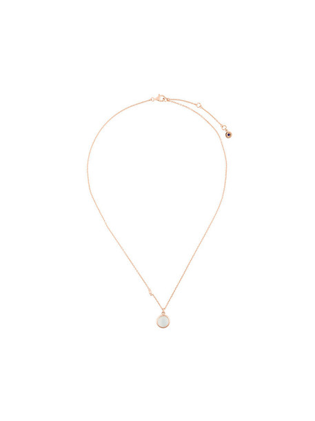 rose gold rose women moon necklace pendant gold grey metallic jewels