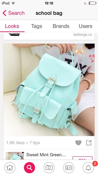 bag blue bag duck egg blue school bag british pounds turquise