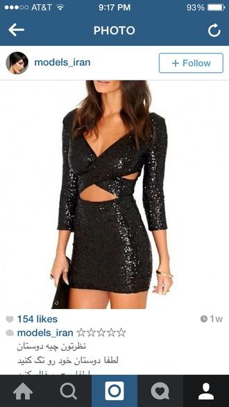 dress black sequin dress