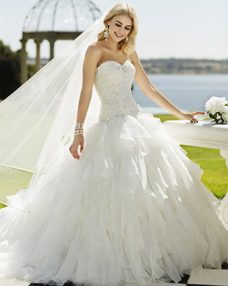 dress wedding dress wedding gown wedding gowns 2015 white wedding prom dress white wedding dress rhinestones