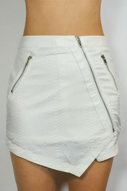 EVE SNAKE PRINT SKIRT - WHITE - BOTTOMS