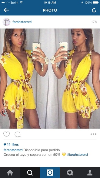 jumpsuit yellow jumpsuit yellow romper yellow