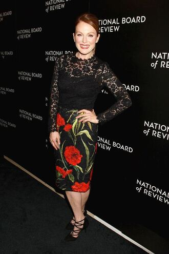 julianne moore lace dress floral dress red hair