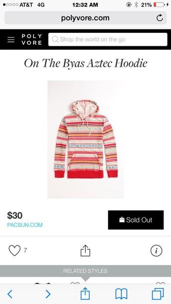 jacket aztec hoodie aztec sweater
