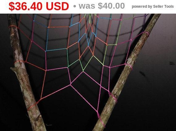 JUNETEENTH SALE PRICES Bendin the Rainbow Dreamcatcher-gift idea-handmade-original-one of a kind-3Ddiamond-boho-wall hanging-gypsy-home d...