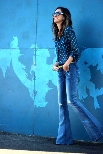 frankie hearts fashion shirt jeans belt shoes sunglasses