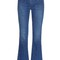Star-distressed cropped kick-flare jeans