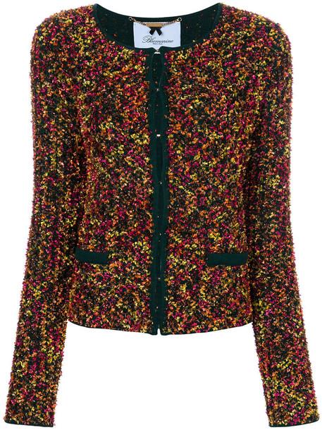 Blumarine jacket women wool green