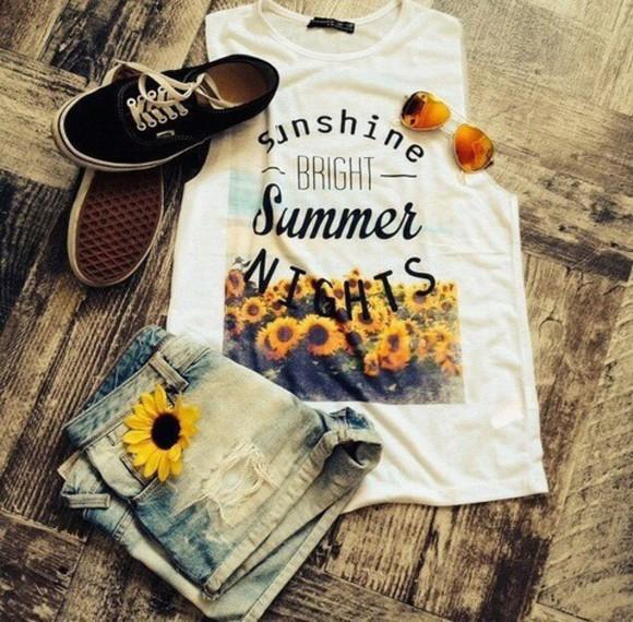 sunflower yellow top