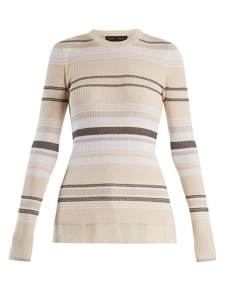 Proenza Schouler sweater striped sweater knit cream