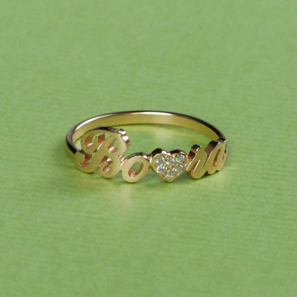 Jewels, Diamond Name Ring, Diamond Ring, Name Ring, Letter